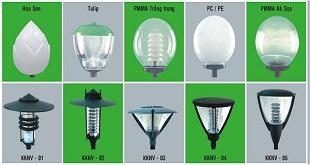 Một số loại bóng đèn sử dụng chiếu sáng sân vườn